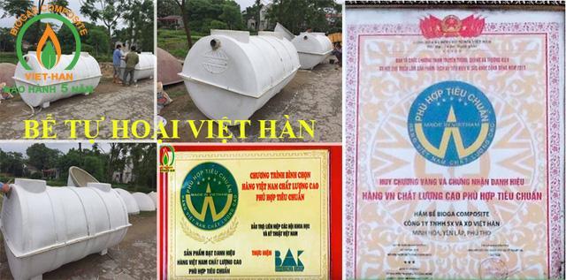 Bể Tự Hoại Composite Việt Hàn ISO – Bể Phốt Composite Chất Lượng Cao
