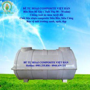 giá bể phốt composite tại Việt Hàn Composite