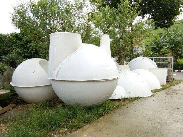 Cách lắp đặt hầm biogas composite đơn giản
