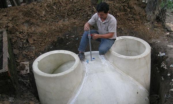 Cách lắp đặt hầm biogas composite